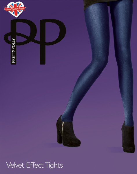 Pretty Polly Velvet Effect Tights - Blickdichte Strumpfhose mit Samt-Optik