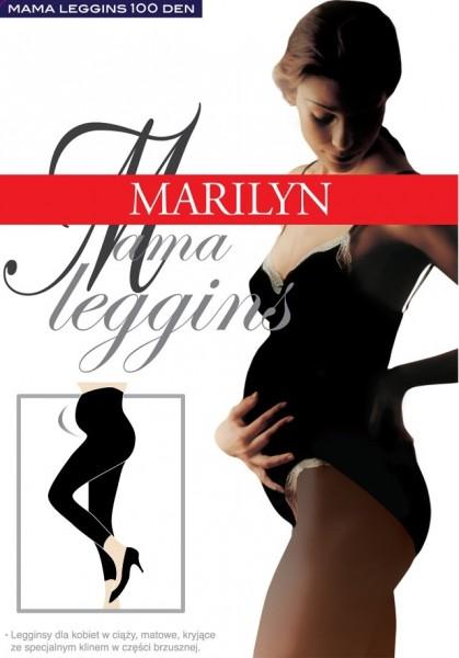 Marilyn Lange glatte Leggings fuer Schwangere Mama, 100 DEN