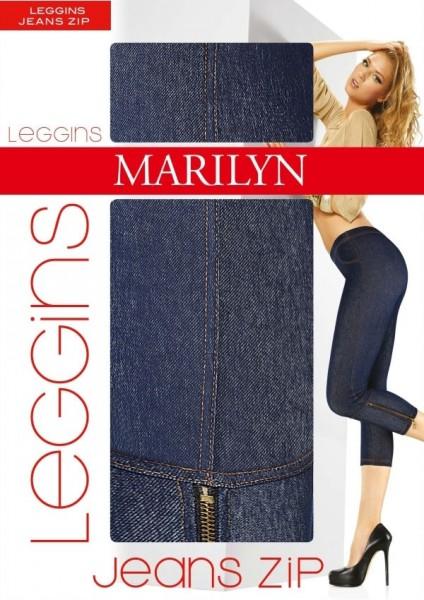 Marilyn Leggings in Jeansoptik, 3/4-Laenge, mit Reissverschluss Jeans Zip