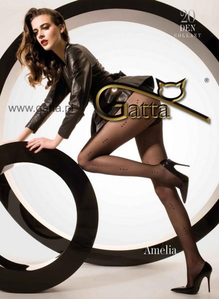 Gatta Strumpfhose mit einem Rauten-Muster Amelia