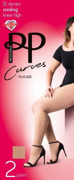 Pretty Polly Curves - Bequeme Kniestrümpfe mit Kühleffekt und weiter Passform