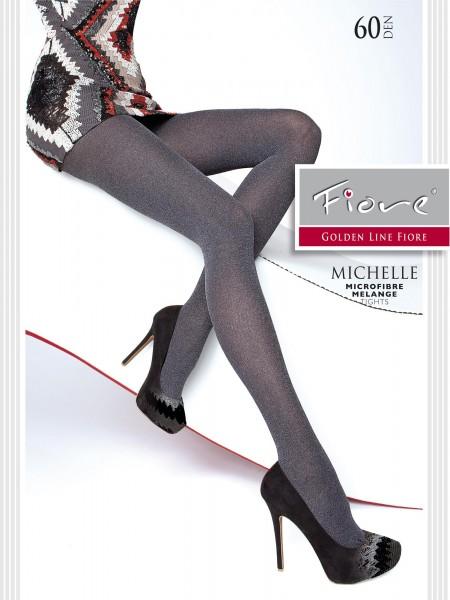 Fiore Michelle - Blickdichte Strumpfhose in angesagter Melange-Optik