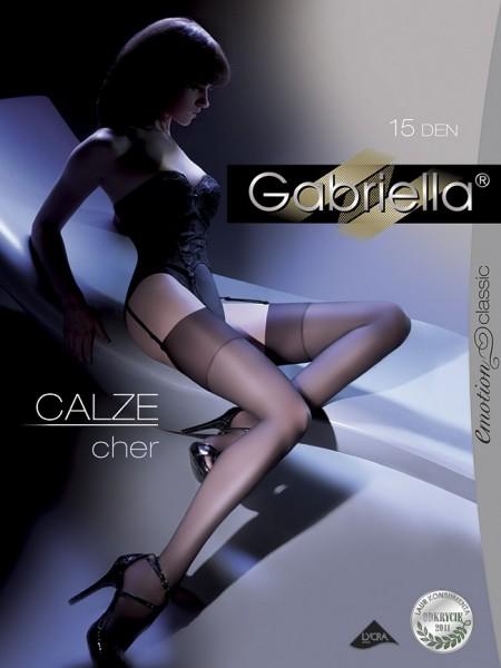 Gabriella Klassische glatte Strapstruempfe Cher 15 DEN