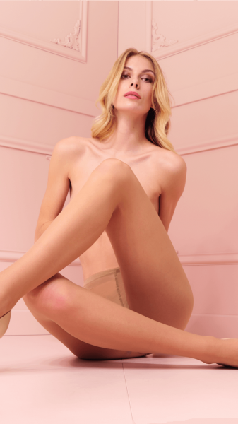 Trasparenze Rosy - Glatte, seidig glänzende Feinstrumpfhose