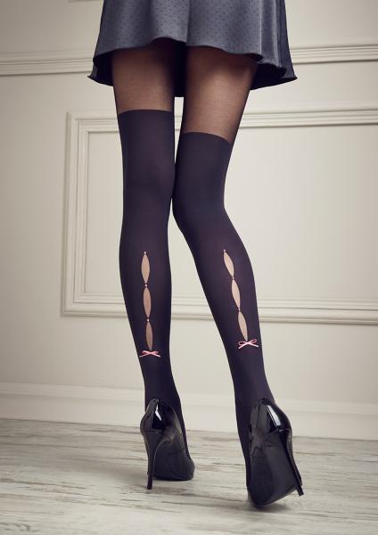 Patrizia Gucci for Marilyn - Strumpfhose mit Overknee-Optik und Taillenbund aus Spitze