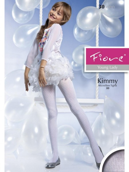 Fiore Kinderstrumpfhosen mit durchgehendem 3D-Muster Kimmy 40 DEN