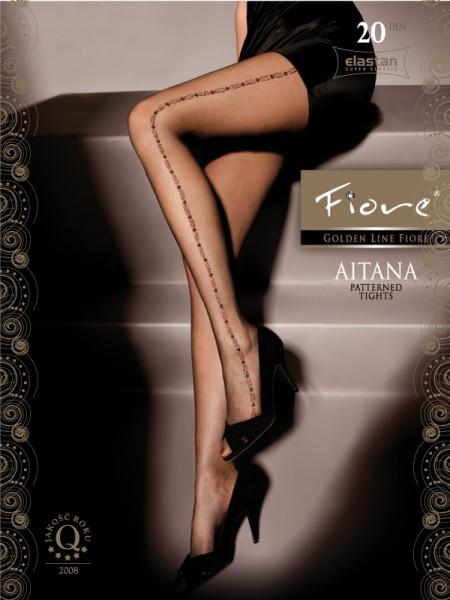 Fiore Feinstrumpfhose mit sexy Muster Aitana 20 DEN