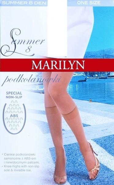 Marilyn Hauchduenne Kniestruempfe mit Anti-Rutsch-Noppen Summer 8 DEN