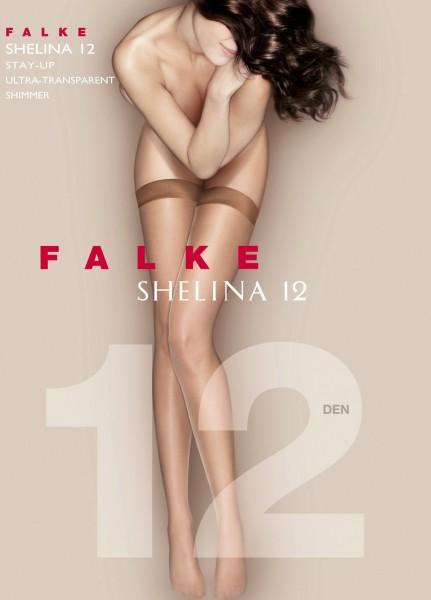 Falke Shelina 12 - Ultra-transparente halterlose Strümpfe mit glattem Abschlussband
