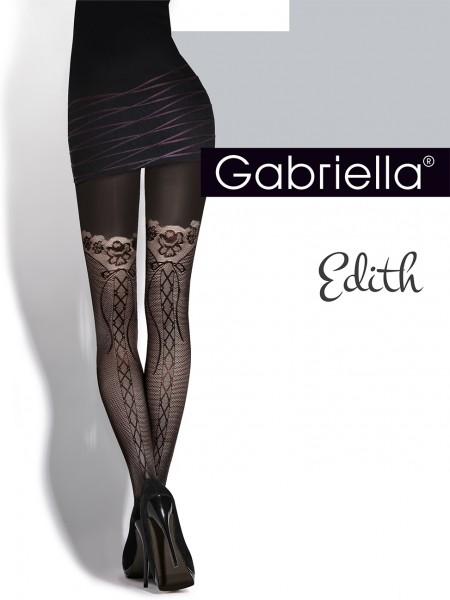 Gabriella Edith - Bezaubernde Strumpfhose in raffinierter Strumpf-Optik