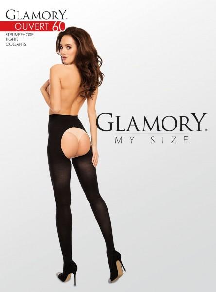 Glamory Ouvert 60 - Blickdichte Feinstrumpfhose offen im Schritt