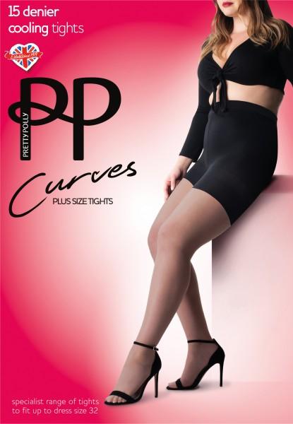 Pretty Polly Curves - Bequeme Feinstrumpfhose mit Kühleffekt und weiter Passform