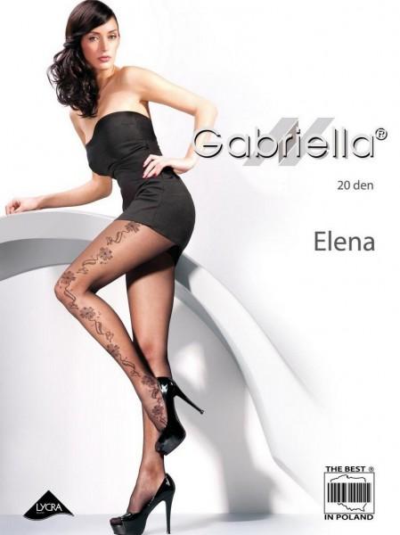Gabriella Elegante Feinstrumpfhose mit dezentem Blumenmuster Elena 20 DEN
