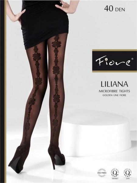 Fiore Microfaser-Strumpfhose mit extravagantem Muster Liliana 40 den