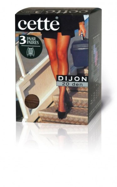 Cette Dijon - 3 Paar klassische Feinstrumpfhosen ohne Elastan