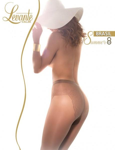 Sommerstrumpfhose mit Bikini-Höschenteil Brasil Summer 8 von Levante, 8 DEN