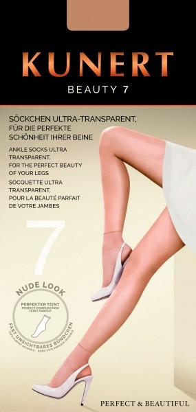 Kunert Beauty 7 - Ultraleichte Sommersöckchen im Nude-Look