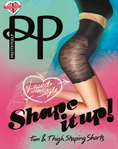 Pretty Polly Shape it up Lace Shaper Shorts Figurformendes Höschen mit langem Bein und hoher Taille