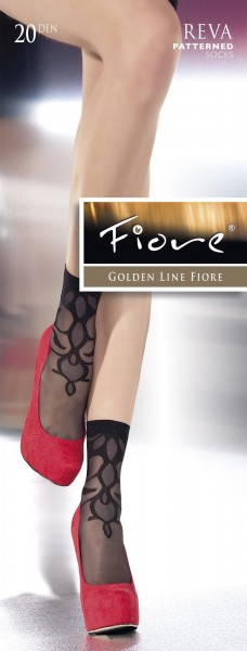 Fiore Gemusterte Feinsoeckchen Reva, 20 DEN