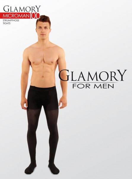 Glamory Microman 100 - Blickdichte Microfaser-Strumpfhose für Männer
