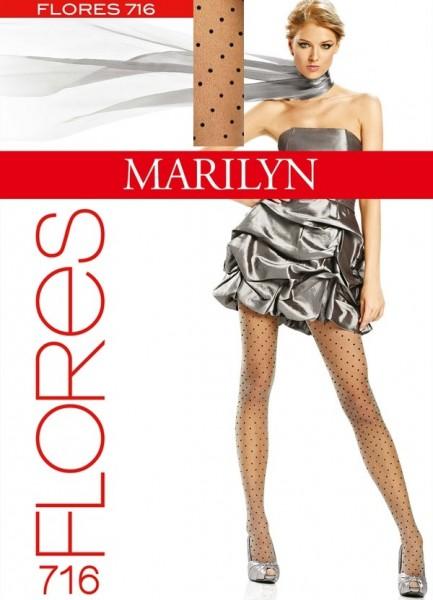 Marilyn Trendy Feinstrumpfhose mit Tupfenmuster Flores, 20 DEN