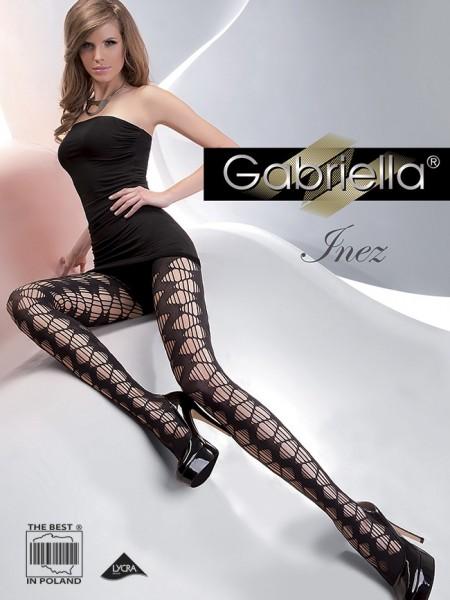 Gabriella Extravagante, gemusterte Netzstrumpfhose Inez
