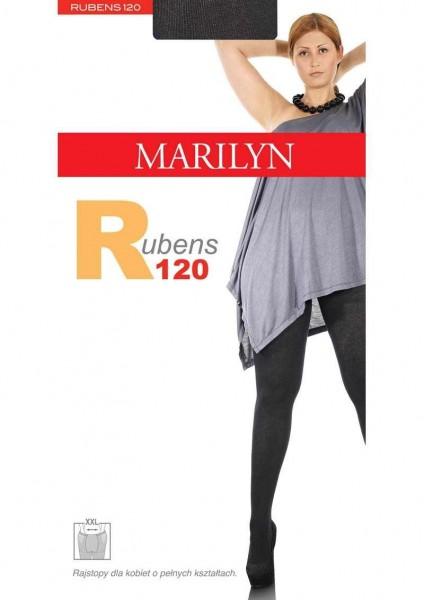 Marilyn Bequeme Baumwollstrumpfhose fuer Frauen mit etwas ueppigerer Figur Rubens 120 DEN