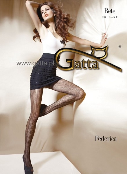 Gatta NetzStrumpfhose mit einem durchgehenden Muster Federica 06