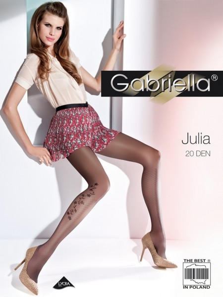 Gabriella Feinstrumpfhose mit dezentem, blumigem Muster Julia 20 DEN