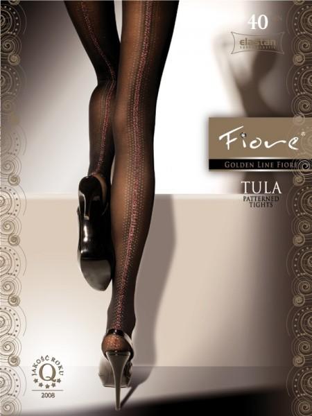 Fiore Feinstrumpfhose mit sexy Muster Tula 40 den