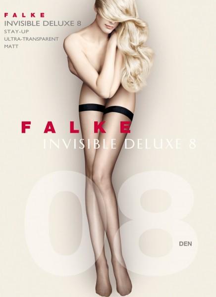 Falke Invisible Deluxe 8 - halterlose Strümpfe mit schmalem, glatten Abschlussband