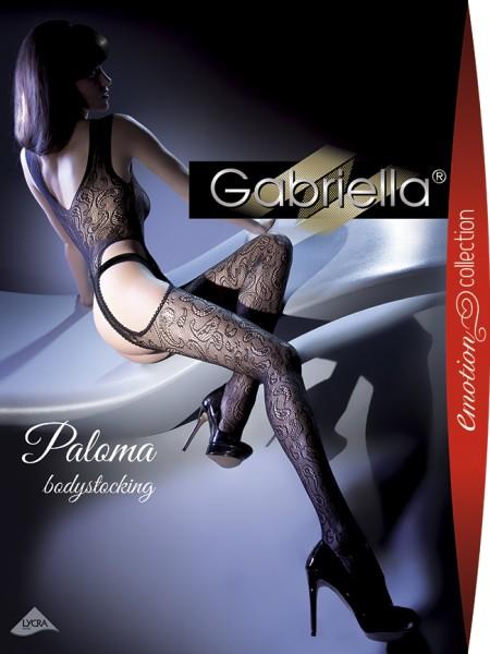 Netz-Bodystocking mit floralem Muster Paloma von Gabriella