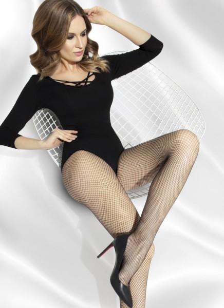 Annes Styling Klassische glatte Netzstrumpfhose Shakira Rete