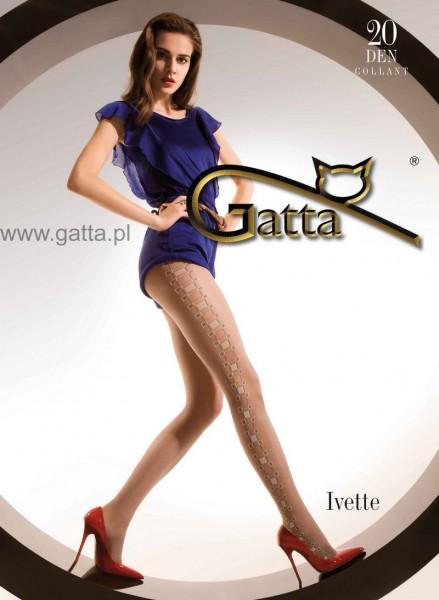 Gatta Feinstrumpfhosen mit geometrischem Muster Ivette 20 DEN