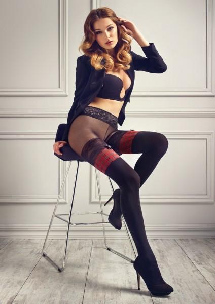 Strumpfhose in Strumpf-Optik und Taillenbund aus Spitze aus der Kollektion Patrizia Gucci forMarilyn