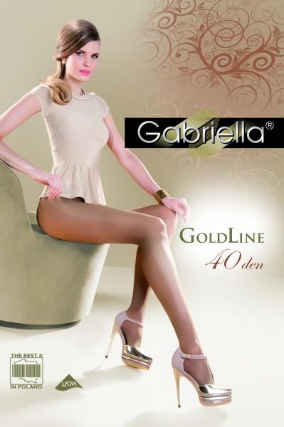 Gabriella Exclusive glatte Feinstrumpfhose Gold 40 DEN