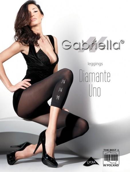 Gabriella Blickdichte Leggins mit schmuckartiger Verzierung Diamante Uno