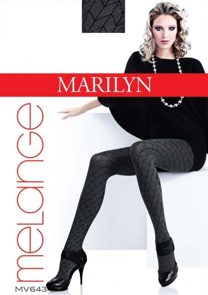Marilyn Gemusterte Strumpfhose in Melange-Optik Grace 60 DEN