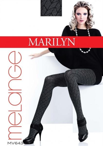 Marilyn Gemusterte Strumpfhose in Melange-Optik Grace 60 DEN