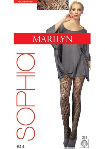 Marilyn Gemusterte BaumwollStrumpfhose mit Netzstruktur Sophia, 80 DEN