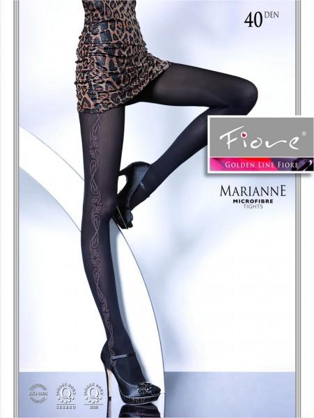 Fiore Strumpfhose mit dezentem Muster Marianne 40 DEN