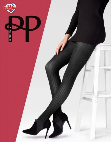 Pretty Polly Velvet Rib - Weiche, blickdichte Strumpfhose mit samtigem Rippeneffekt