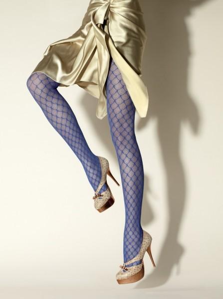 Gerbe Designerstrumpfhose mit durchgehendem Muster Delice