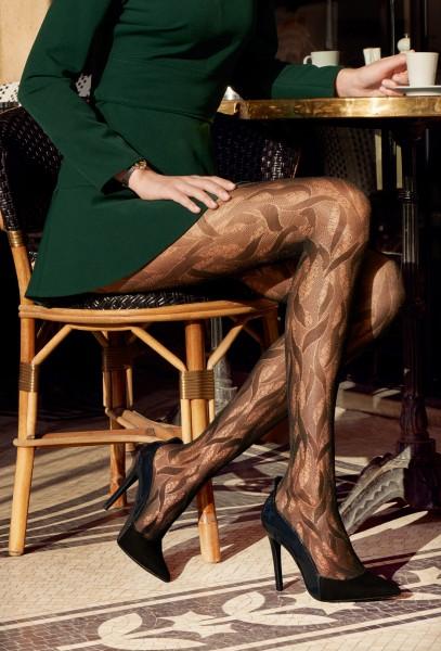 Gerbe Fascination - Edle Strumpfhose mit wunderschönem Muster