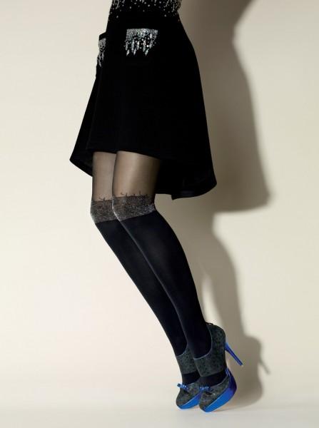Gerbe Designerstrumpfhose im Overknee-Look Surprise
