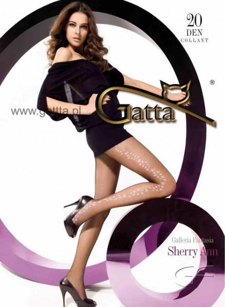 Gatta Feinstrumpfhose mit einem Blumenmuster Sherry Ann 11