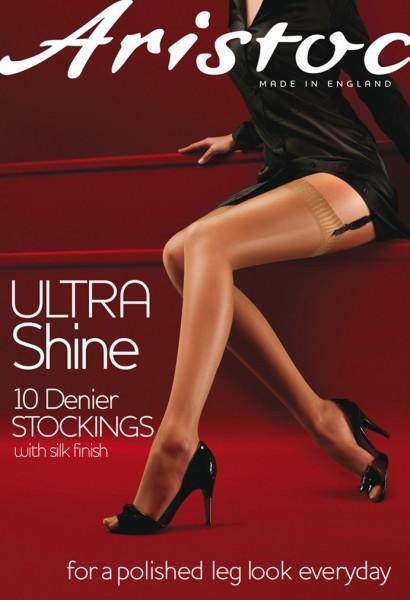 Glatte glänzende Strapsstrümpfe Ultra Shine von Aristoc