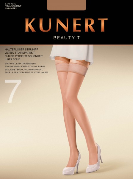 Kunert Beauty 7 - Ultraleichte halterlose Strümpfe im Nude-Look