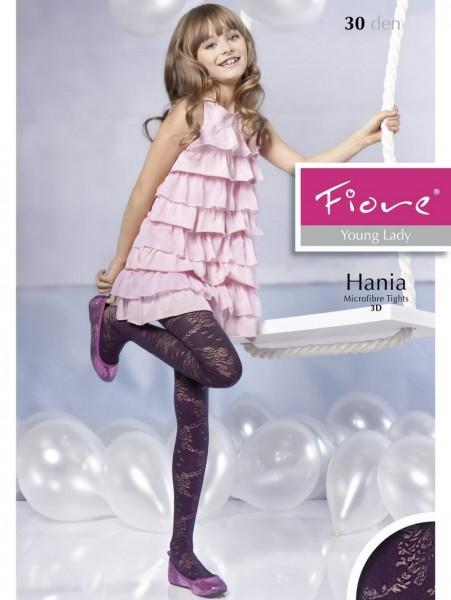 Fiore KinderStrumpfhose mit blumigem 3D-Muster Hania 40 DEN