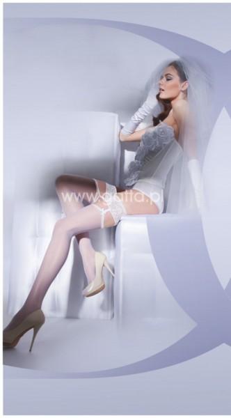 Gatta Wedding Collection - Brautstruempfe in Strapsoptik Bella Donna
